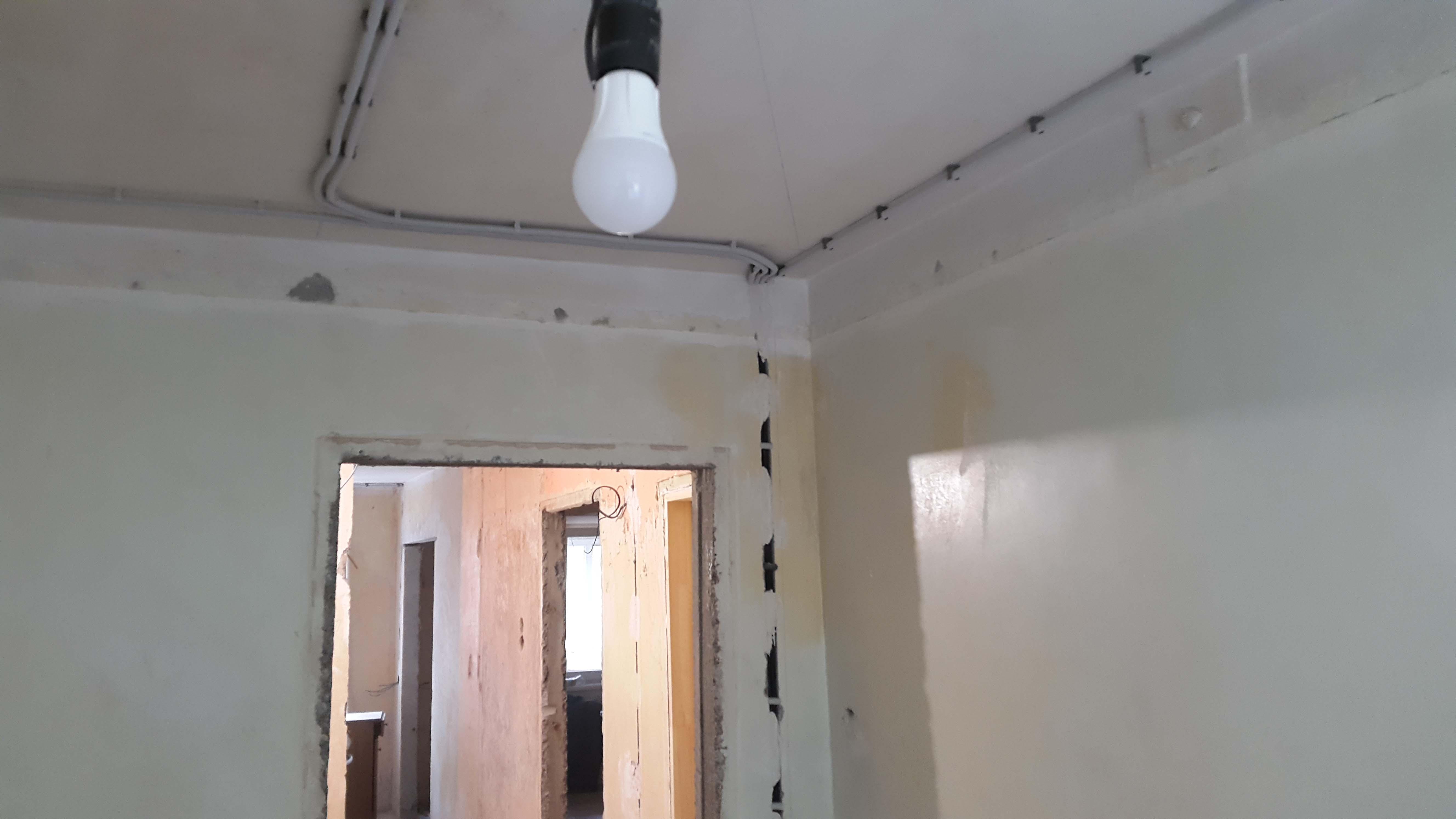 замена проводки в квартире панельного дома - комната