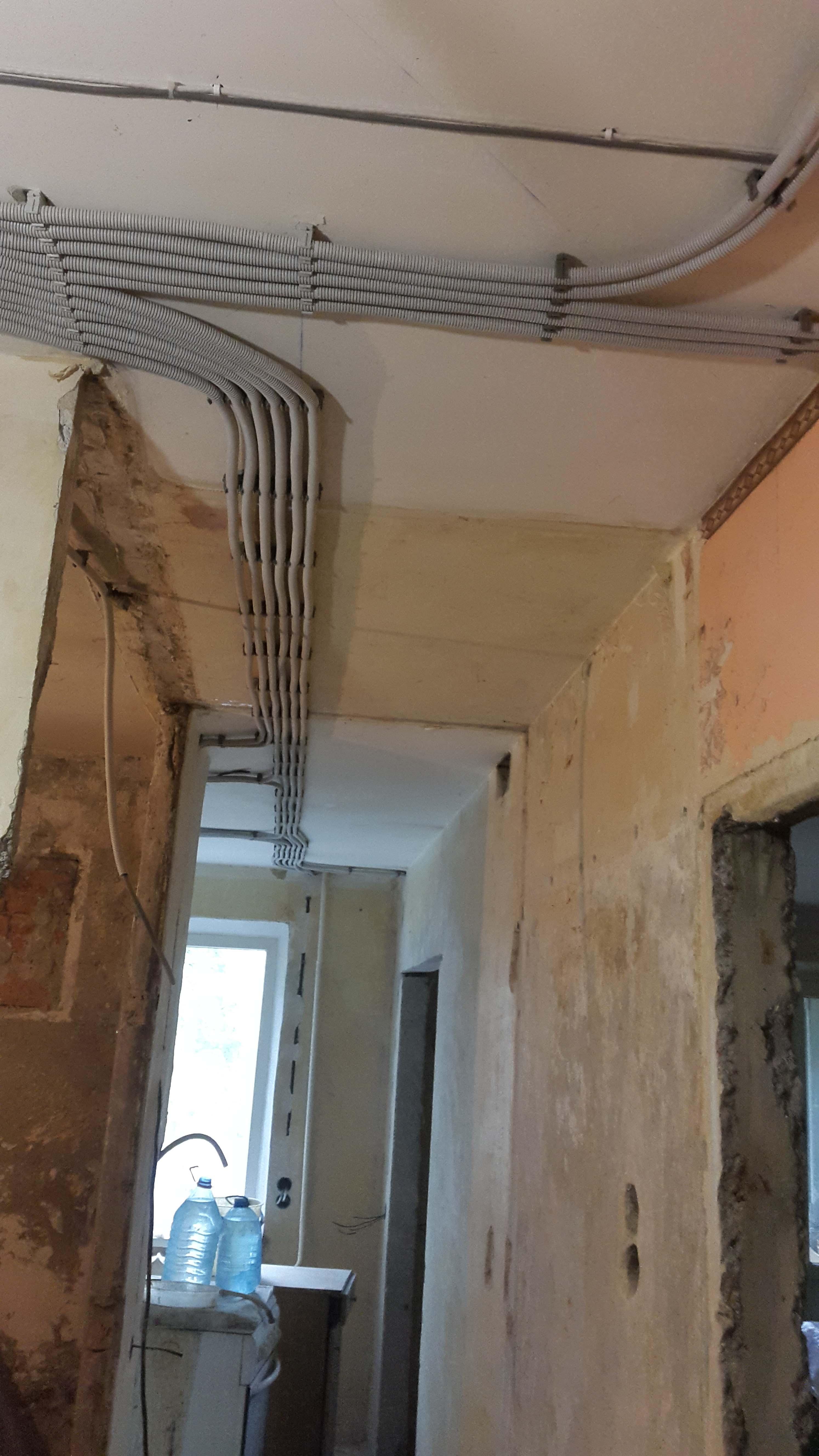 проводка в квартире - коридор