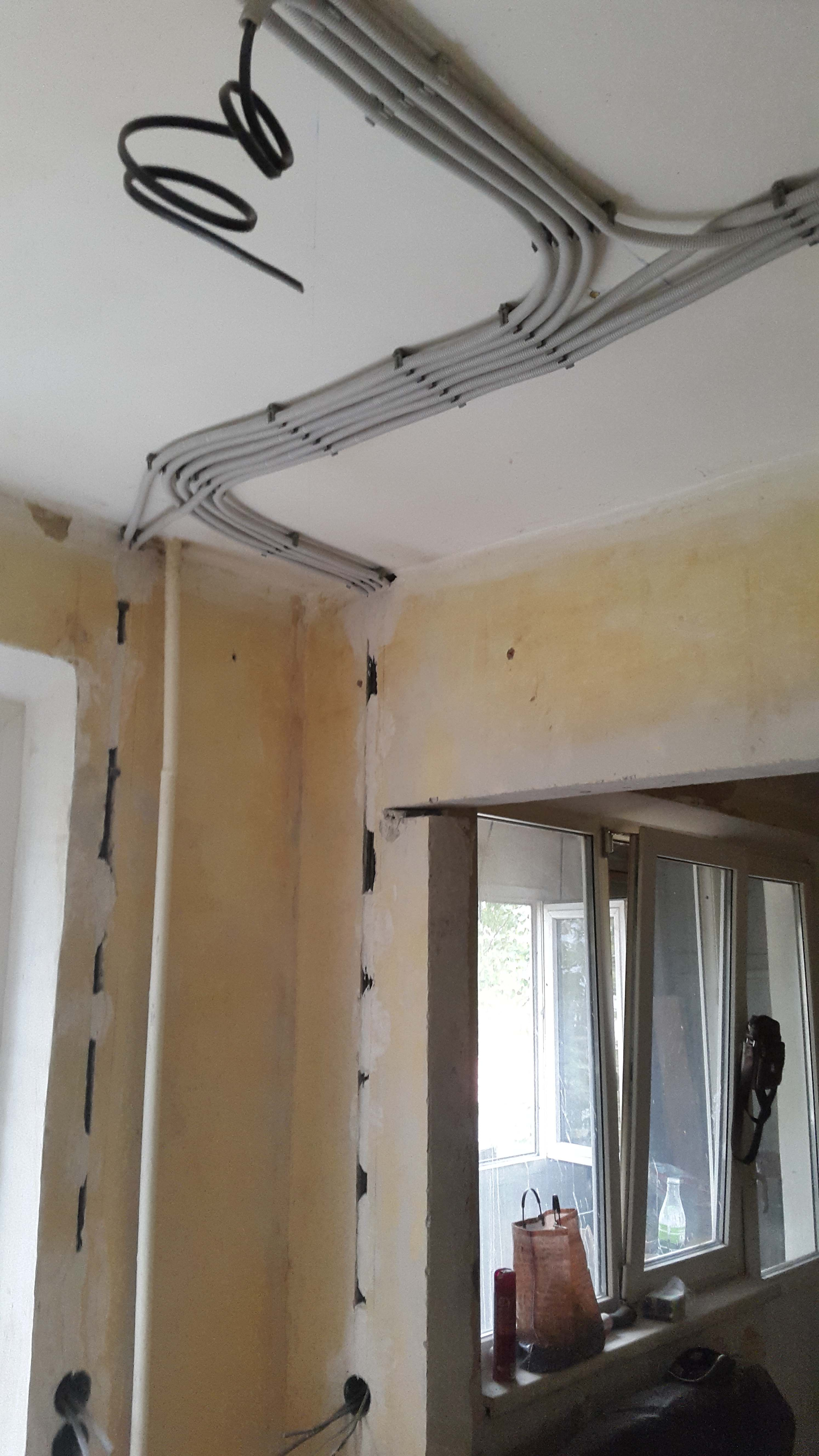 замена проводки в квартире панельного дома - кухня